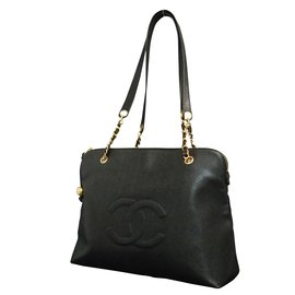 Chanel-Black Caviar Skin-Black
