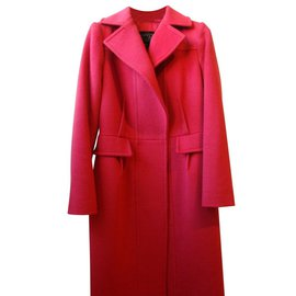 Giambattista Valli-Wool and cashmere coat-Red