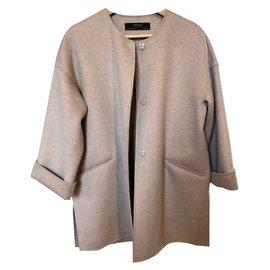 Zara-Coats, Outerwear-Beige