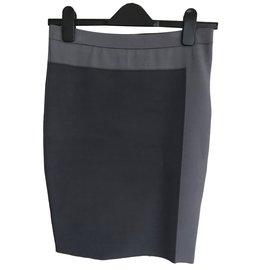 Alexander Wang-New two-tone pencil skirt-Grey