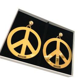 Moschino-Earrings-Golden