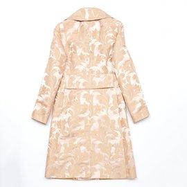 Dolce & Gabbana-Coats, Outerwear-Pink,Beige