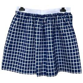 Tara Jarmon-Skirts-White,Blue