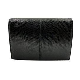 Céline-Lizard clutch-Black