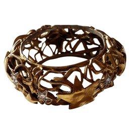 Yves Saint Laurent-Bracelet rigide-Doré
