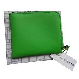 Comme Des Garcons-Wallet-Light green