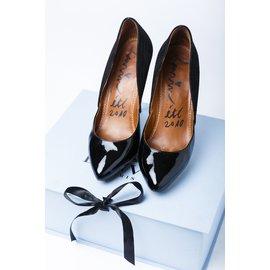 Lanvin-Escarpins en daim noir, et vernis-Noir
