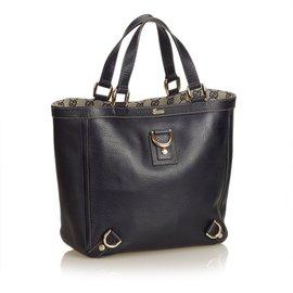 Gucci-Sac à main en cuir Abbey Line D Ring-Noir
