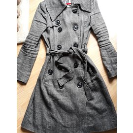 Ikks-Trench-Gris anthracite