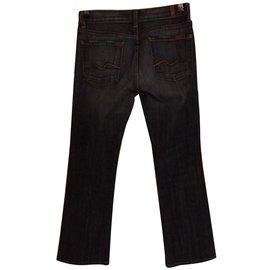 7 For All Mankind-Jeans-Black