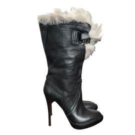 Burberry-Shearling boots-Black
