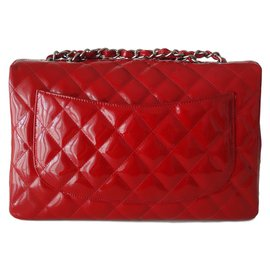 Chanel-RED CLASSIC CHANEL BAG-Red