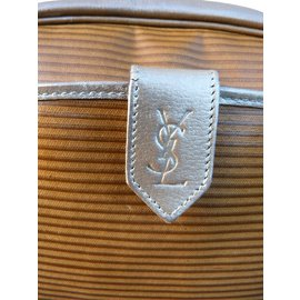 Yves Saint Laurent-Handbags-Silvery,Mustard,Light brown