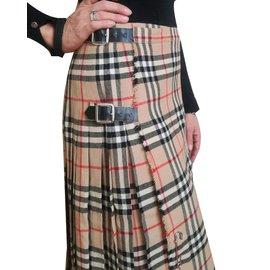 Burberry-Vintage skirt-Beige
