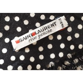 Yves Saint Laurent-Big scarf-Black,Red,Green