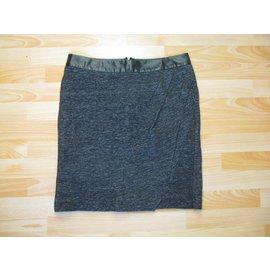 Ikks-Skirts-Black,Dark grey