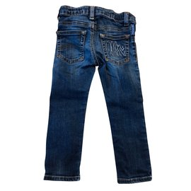 Armani-Pantalons-Bleu Marine