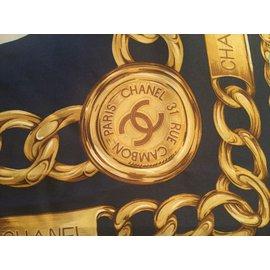 Chanel-scarf-Blue