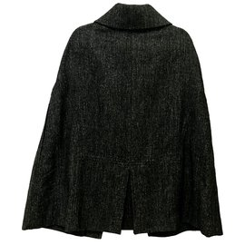 Yves Saint Laurent-Cape De Laine-Gris anthracite