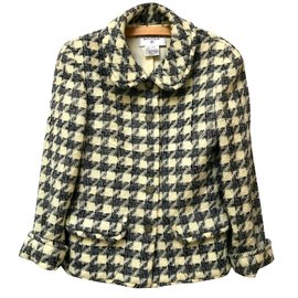 Chanel-Wool Jacket-Grey,Cream