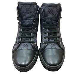 Gucci-Baskets monogrammés hauts-Noir