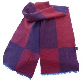 Yves Saint Laurent-Men's Scarves-Red,Blue