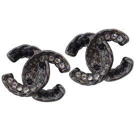 Chanel-LOGO CLIPS-Gris anthracite