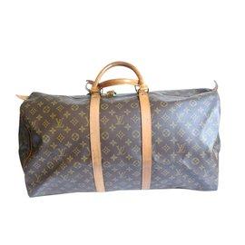 Louis Vuitton-keepall 55-Marron