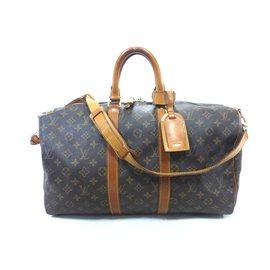 Louis Vuitton-Keepall 45 bandouliere monogram-Marron