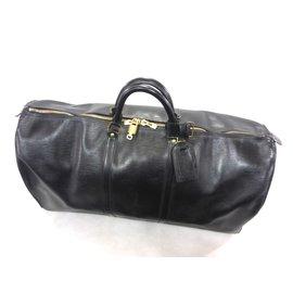 Louis Vuitton-Keepall 60 cuir epi noir-Noir