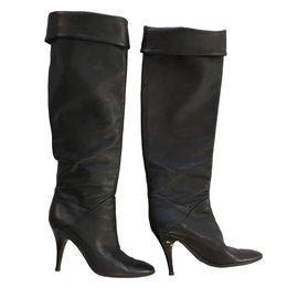 eab50590dd17 Giuseppe Zanotti-Black grained leather boots-Black ...