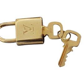 Louis Vuitton-Vorhängeschloss-Silber,Bronze