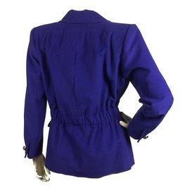 Yves Saint Laurent-Veste violette vintage-Violet