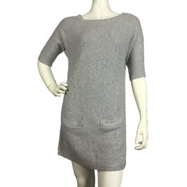 Chloé-100% cashmere mini dress-Grey