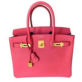 Hermès-Commande spéciale Birkin 30 - Fer à Cheval-Rose