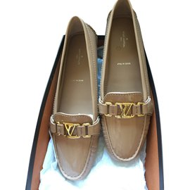 Louis Vuitton-Oxford flat loafer-Beige