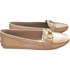 Louis Vuitton-Oxford flat loafer-Beige