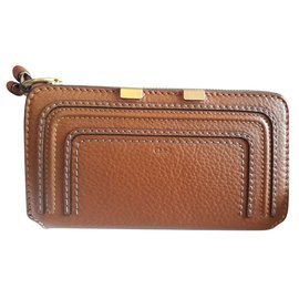 Chloé-Marcie long zipped wallet-Brown