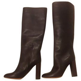 Chloé-knee hight boots-Brown