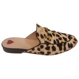 Gucci-Imprimé léopard Princetown-Multicolore