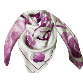 Chanel-Scarf-Fuschia