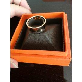 Hermès-H anchor ring-Pink,Golden