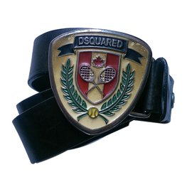Dsquared2-Gürtel-Schwarz