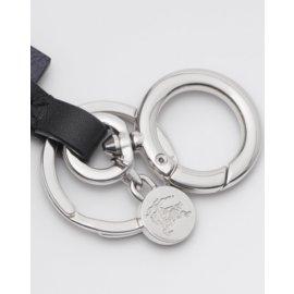 Burberry-Logo leather keychain-Green