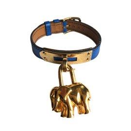 Hermès-Kelly-Blue,Golden