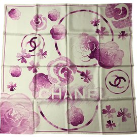 Chanel-Silk square-Fuschia