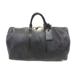 Louis Vuitton-Keepall 50 cuir epi noir-Noir