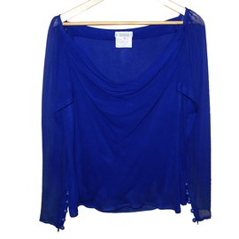Yves Saint Laurent-Tops-Bleu Marine