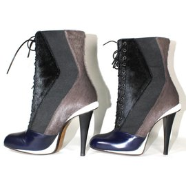Fendi-Bottines-Noir,Bleu,Gris