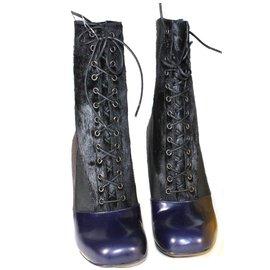 Fendi-Ankle boots-Black,Blue,Grey